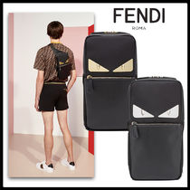FENDI BAG BUGS Unisex Nylon 2WAY Plain Messenger & Shoulder Bags
