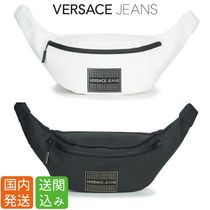 VERSACE Unisex Street Style Plain Hip Packs