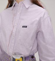 SCULPTOR Stripes Long Sleeves Cotton Shirts & Blouses