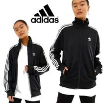 adidas Stripes Casual Style Street Style Jackets