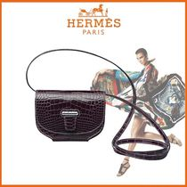HERMES Crocodile Blended Fabrics Chain Other Animal Patterns