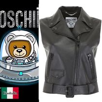 Moschino Leather Vest Cardigans