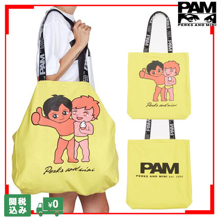 Unisex Canvas Street Style A4 Logo Totes