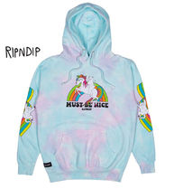 RIPNDIP Pullovers Sweat Street Style Tie-dye Long Sleeves Hoodies