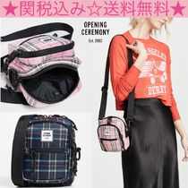 OPENING CEREMONY Other Check Patterns Casual Style Shoulder Bags