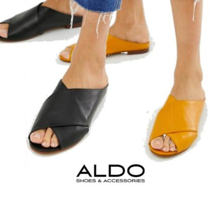 c0aaba18477b ... ALDO More Sandals Open Toe Casual Style Plain Leather Sandals ...