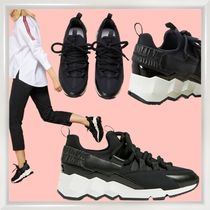 Pierre Hardy Rubber Sole Casual Style Bi-color Leather Low-Top Sneakers