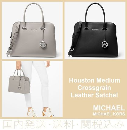 308eb65cd7247a ... Michael Kors Handbags 【SALE】Houston Medium Crossgrain Leather Satchel  ...
