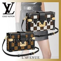 Louis Vuitton PETITE MALLE Casual Style Canvas Blended Fabrics 2WAY Shoulder Bags