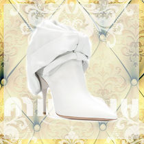 MiuMiu Leather Pin Heels Ankle & Booties Boots