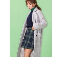 SPAO Casual Style Wool Street Style Plain Long Chester Coats