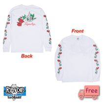 RIPNDIP Crew Neck Skull Unisex Street Style Long Sleeves Cotton