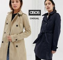 ASOS Short Street Style Plain Trench Coats