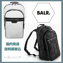 BALR Unisex Faux Fur Street Style A4 Plain Backpacks