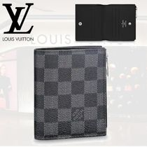 Louis Vuitton DAMIER GRAPHITE Leather Coin Cases