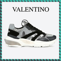 VALENTINO Casual Style Studded Low-Top Sneakers