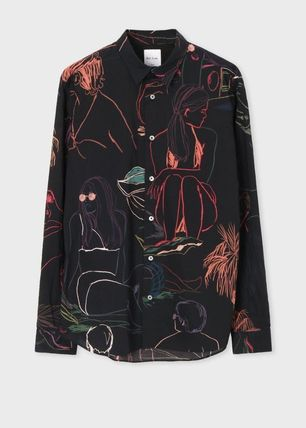 Paul Smith Shirts Tropical Patterns Long Sleeves Cotton Shirts 2