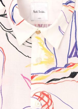 Paul Smith Shirts Tropical Patterns Long Sleeves Cotton Shirts 6