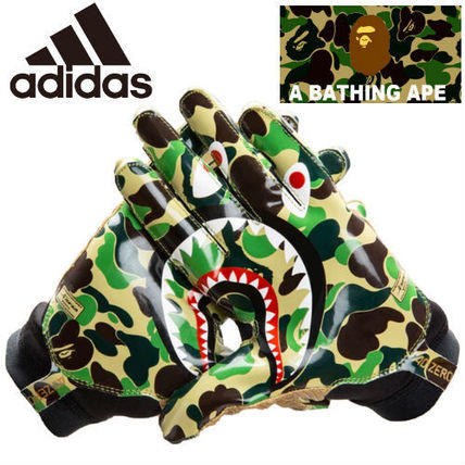 Camouflage Unisex Street Style Collaboration Gloves Gloves
