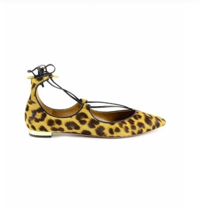 Leopard Patterns Lace-up Leather Elegant Style Slip-On Shoes