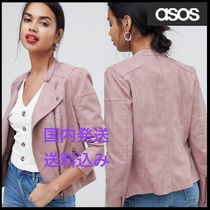 ASOS Casual Style Faux Fur Street Style Plain Medium Jackets