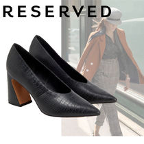 RESERVED Faux Fur Other Animal Patterns Block Heels Elegant Style