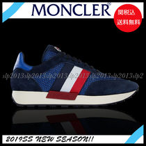 MONCLER Blended Fabrics Plain Leather Sneakers