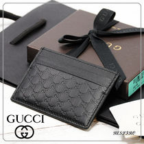 GUCCI Monogram Leather Card Holders
