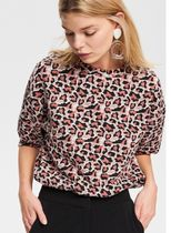 RESERVED Leopard Patterns Casual Style Cropped Shirts & Blouses
