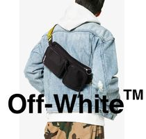 Off-White Casual Style Unisex Plain Shoulder Bags