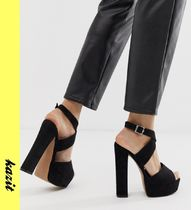 ASOS Platform Casual Style Faux Fur Platform & Wedge Sandals