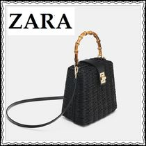 ZARA 2WAY Plain Straw Bags