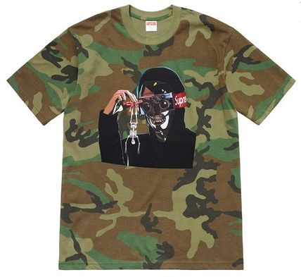 Supreme More T-Shirts Camouflage Unisex Street Style Short Sleeves T-Shirts 2