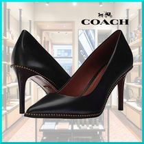 Coach Plain Leather Pin Heels Office Style