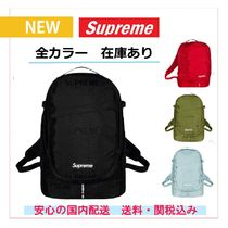 Supreme Unisex Nylon Street Style A4 Plain Backpacks