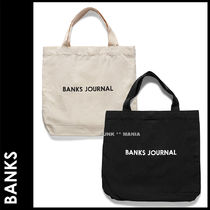 BANKS Unisex Canvas Street Style A4 Totes