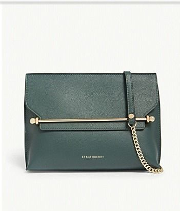 Leather Elegant Style Crossbody Logo Clutches