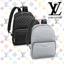 Louis Vuitton DAMIER INFINI Other Check Patterns Casual Style Street Style Leather