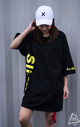 More T-Shirts Unisex Street Style U-Neck Cotton Short Sleeves Oversized 12