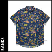 BANKS Tropical Patterns Street Style Cotton Short Sleeves Shirts