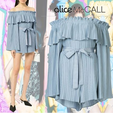Short Stripes Casual Style Dresses