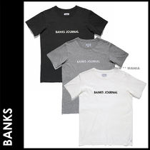 BANKS Crew Neck Street Style Cotton Short Sleeves
