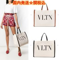 VALENTINO Casual Style Canvas Street Style A4 Totes