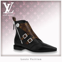 Louis Vuitton MONOGRAM Monogram Casual Style Leather Ankle & Booties Boots