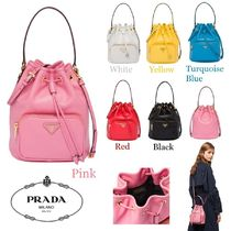 PRADA Casual Style Calfskin Plain Purses Shoulder Bags