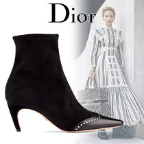 Christian Dior Suede Blended Fabrics Street Style Bi-color Pin Heels