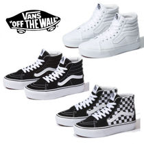 VANS SK8-HI Other Check Patterns Platform Lace-up Casual Style Unisex