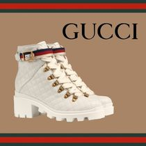 GUCCI Casual Style Plain Leather Ankle & Booties Boots