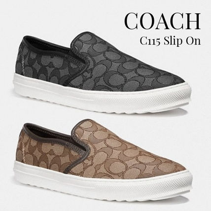 d33cc291504e1 Coach 2019 SS Round Toe Rubber Sole Casual Style Slip-On Shoes (G1909)