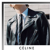 CELINE Short Plain Leather Jackets